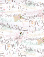 Folded Wrap Special Occasion Congratulations Pastel