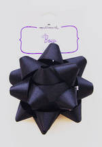 Bow Fabric Black Satin