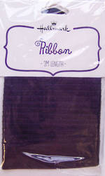Ribbon Fabric Purple Satin 2m