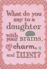 Daughter Birthday Card Hallmark Humour Brains