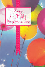 In Laws Birthday Card Daughter In Law Hallmark Balloons