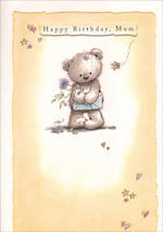 Mum Birthday Card Hallmark Cute Bear Yellow