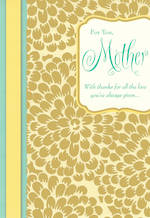Mum Birthday Card Hallmark Mother Foil Petals