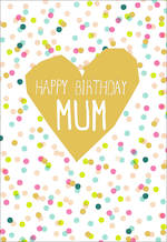 Mum Birthday Card Hallmark Gold Heart