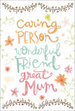 Mum Birthday Card Hallmark Caring Person