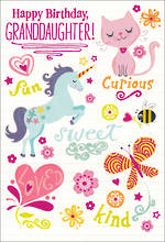 Grandaughter Birthday Card Hallmark Fun Sweet Loved
