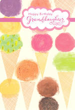 Grandaughter Birthday Card Hallmark Ice Cream