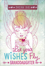 Grandaughter Birthday Card Hallmark Tinkerbell Wishes Fly