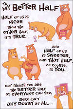 Wife Birthday Card Hallmark Better Half Bears