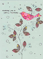Birthday Card Female Hallmark Bird Flower Trend