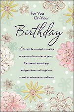 Birthday Card Female Hallmark Large Inspire Verse