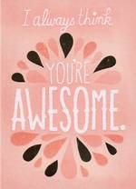 Hallmark Female Birthday Card: Gillter Awesome