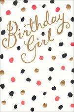 Female Birthday Card Gold Text