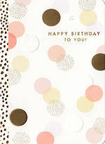 Hallmark Female Birthday Card Pastel Spots