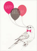 Hallmark Female Birthday Card Bird Balloons