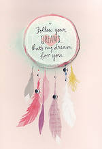 Birthday Card Female Hallmark Dream Catcher
