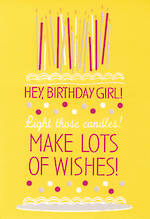 Hallmark Female Birthday Card Large Text Cake