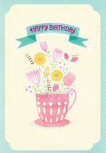 Hallmark Female Birthday Card Flowers Teacup