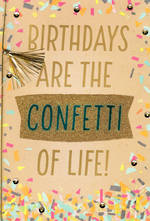 Birthday Card Female Large Confetti