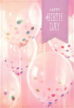 Hallmark Female Birthday Card Pink Balloons