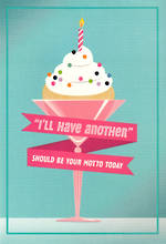 Hallmark Female Birthday Card Large Cupcake