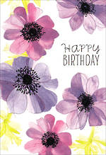 Birthday Card Female Hallmark Large Purple