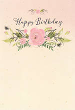 Hallmark Female Birthday Card Pink Rose