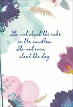 Birthday Card Female Hallmark What It's Not About Large