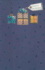 Hallmark Male Birthday Card: Blue Gifts