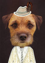 Hallmark Male Birthday Card Dog Face