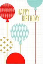 Hallmark Male Birthday Card Large Balloons