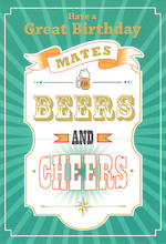 Birthday Card Male Hallmark Large Beers Cheers