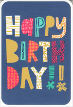 Hallmark Male Birthday Card Pattern Text