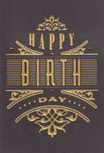 Hallmark Male Birthday Card Gold Text