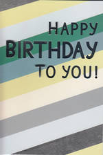 Hallmark Male Birthday Card Large Stripes & Foil