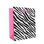 Medium Gift Bag Hot Pink Zebra