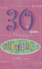 Hallmark Value Age 30 Female Pink