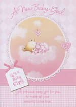 Hallmark Value Baby Girl Pink Bear