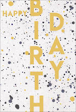 Happy By Hallmark Birthday Paint Splats