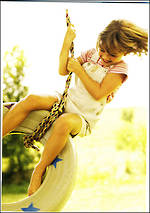Simply Sweet Kids Tire Swing