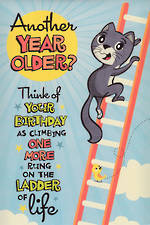 Hallmark Humorous Birthday Card: Ladder of Life