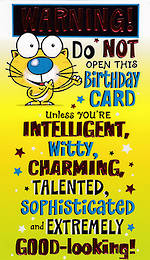 Humourous Birthday Card Hallmark Do Not Open Unless