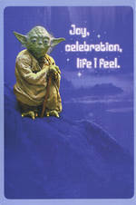 Birthday Card Star Wars Yoda Joy