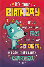 Hallmark Humorous Birthday Card: Cartoon Dog