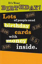 Hallmark Humorous Birthday Card Money Inside