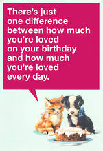 Hallmark Female Birthday Card Humour Difference