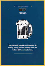 Humorous Birthday Card Hallmark Large Birthday Beer