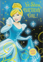 Hallmark Interactive Birthday Card Girl Cinderella