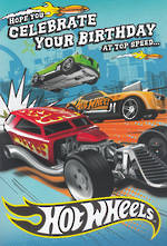 Hallmark Interactive Birthday Card Boy Hot Wheels