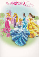 Hallmark Interactive Birthday Card Girl Disney Princess